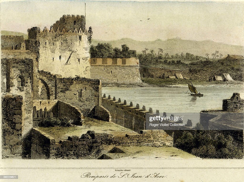 SaintJean d'Acer Fortress Engraving about 1850