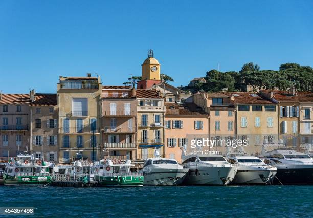 SaintTropez waterfront architecture and yachts