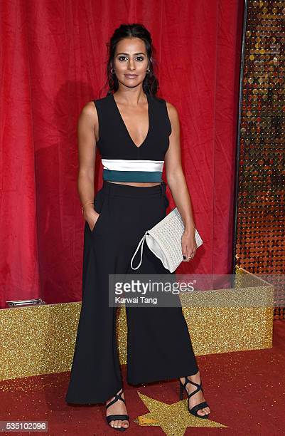 Sair Khan arrives for the British Soap Awards 2016 at the Hackney Town Hall Assembly Rooms on May 28 2016 in London England