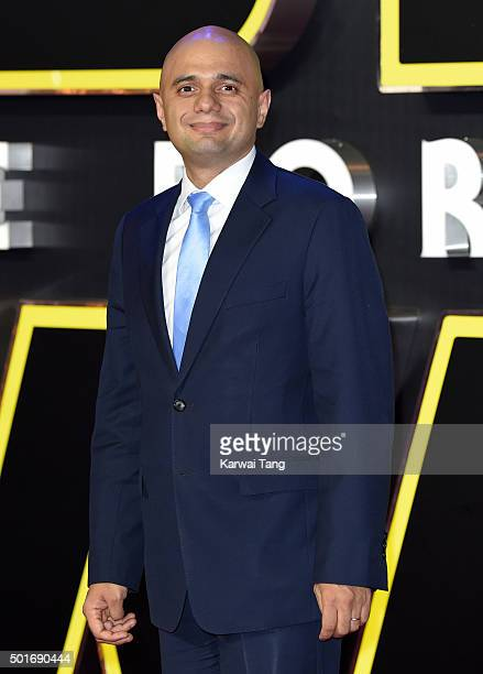 Sajid Javid attends the European Premiere of 'Star Wars The Force Awakens' at Leicester Square on December 16 2015 in London England