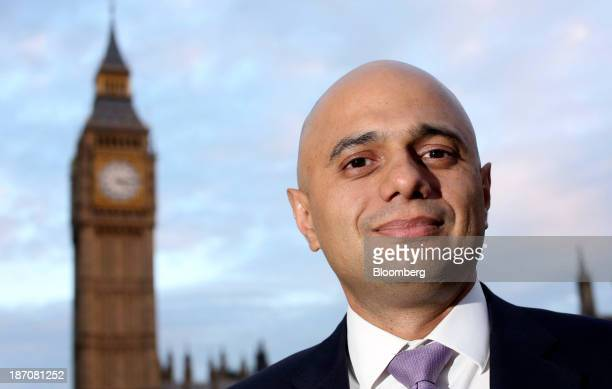 Sajid Javid financial secretary to the UK treasury poses for a photograph following an interview in London UK on Tuesday Nov 5 2013 UK industrial...