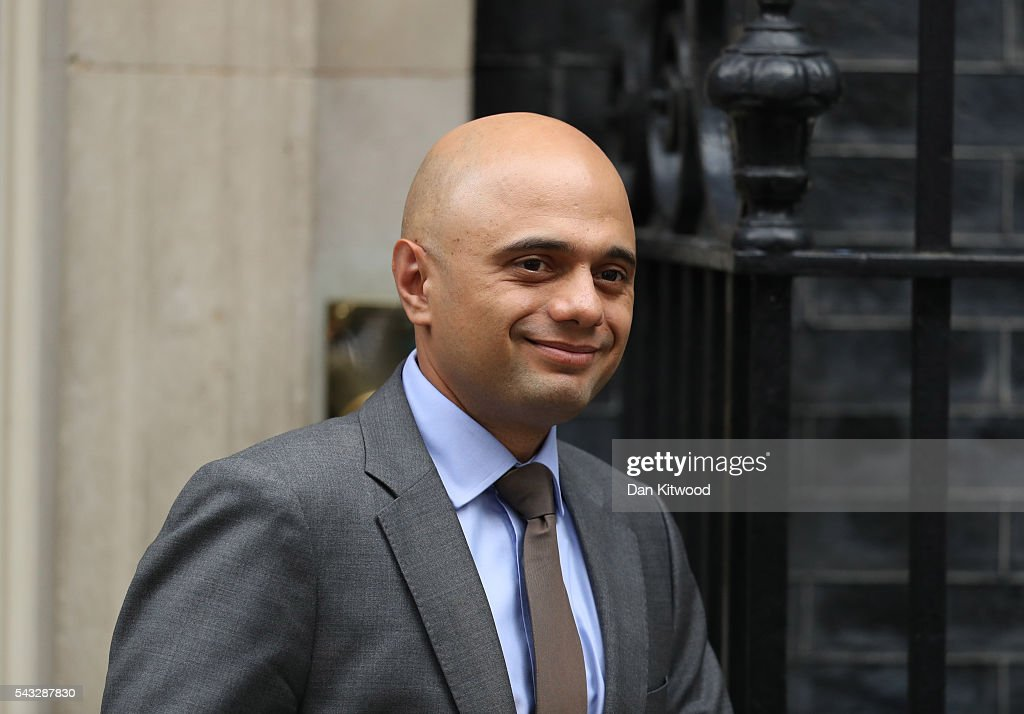 <a gi-track='captionPersonalityLinkClicked' href=/galleries/search?phrase=Sajid+Javid&family=editorial&specificpeople=10536168 ng-click='$event.stopPropagation()'>Sajid Javid</a>, Secretary of State for Business, Innovation and Skills leaves Downing Street following a cabinet meeting on June 27, 2016 in London, England. British Prime Minister David Cameron chaired an emergency Cabinet meeting this morning, after Britain voted to leave the European Union. Chancellor George Osborne spoke at a press conference ahead of the start of financial trading and outlining how the Government will 'protect the national interest' after the UK voted to leave the EU.