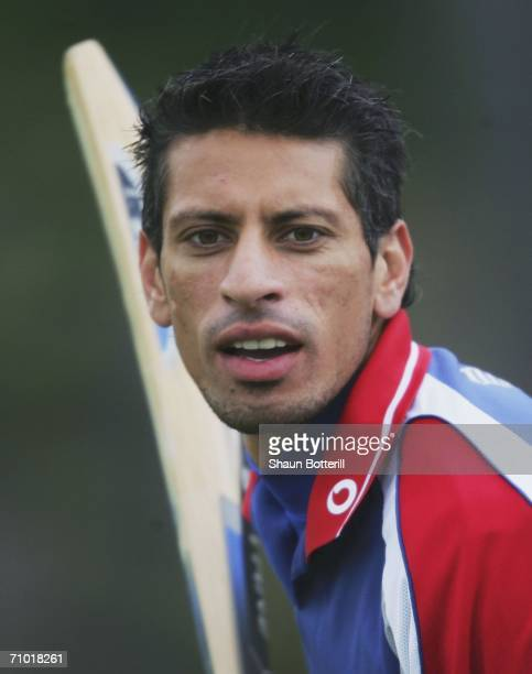 Sajid Mahmood of England in action during England net practice at the Edgbaston Cricket Ground on May 23 2006 in Birmingham England