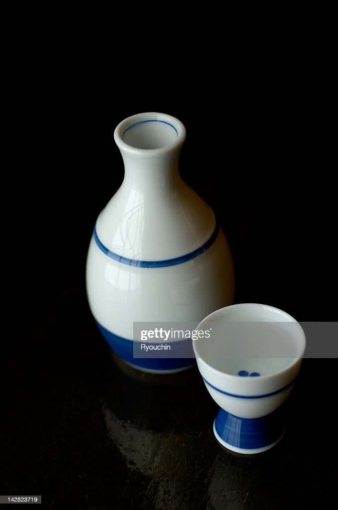 sake bottle and sake cup