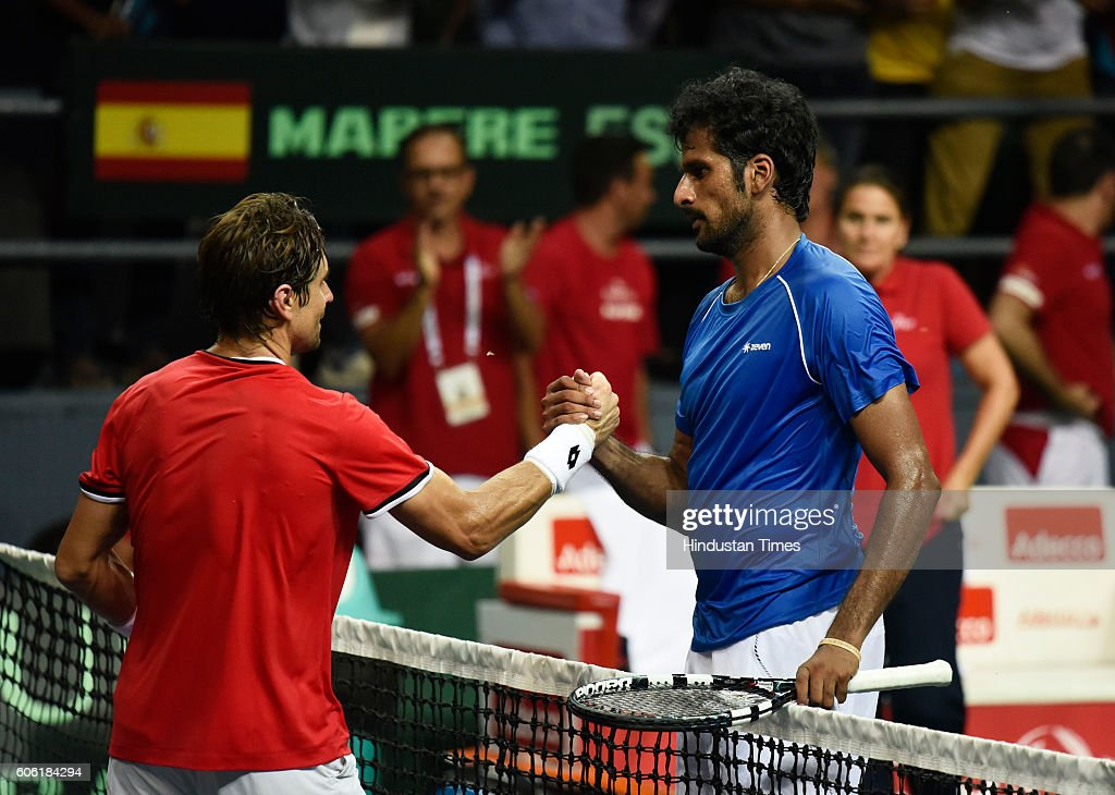 India Vs Spain Davis Cup World Group Play-off Tie : Photo d'actualité