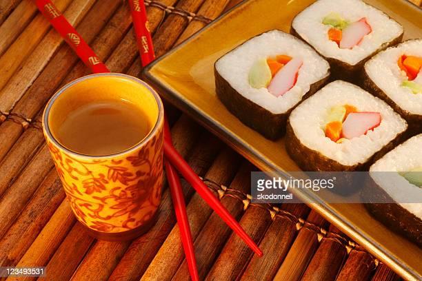 Dîner sushi et saké
