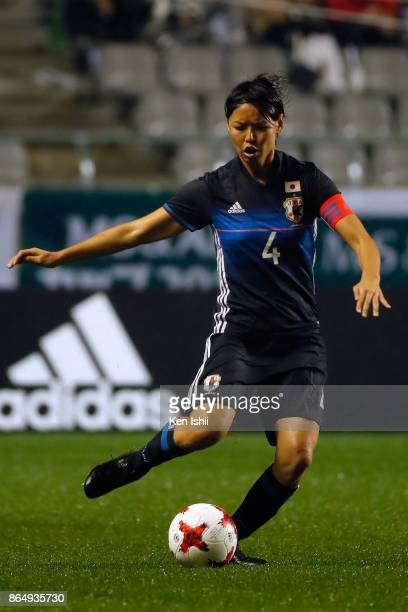 Saki Kumagai of Japan in action during the international friendly match between Japan and Switzerland at Nagano U Stadium on October 22 2017 in...