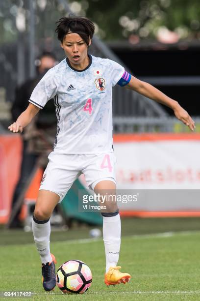 Saki Kumagai of Japanduring the friendly match between the women of The Netherlands and Japan at the Rat Verlegh stadium on June 9 2017 in Breda The...
