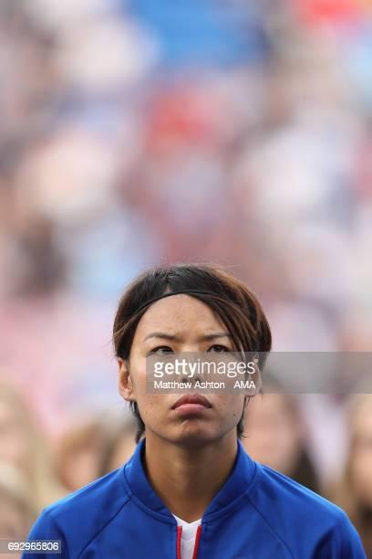 Saki Kumagai of Olympique Lyonnais during the UEFA Women's Champions League Final match between Lyon and Paris Saint Germain on June 1 2017 in...