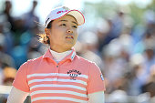 Saki Nagamine of Japan looks on during the second round of the Munsingwear Ladies Tokai Classic at the Shin Minami Aichi Country Club Mihama Course...