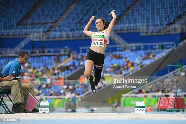 Saki Takakuwa of Japan competes in the Women's Long Jump T44 final during the Rio 2016 Paralympic Games at Olymic stadium on September 9 2016 in Rio...