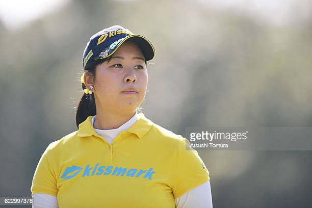 Saki Takeo of Japan looks on during the final round of the Itoen Ladies Golf Tournament 2016 at the Great Island Club on November 13 2016 in Chonan...