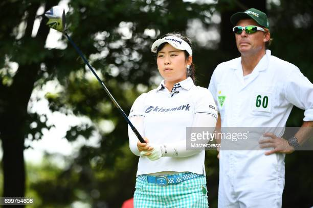 Saki Takeo of Japan looks on during the first round of the Earth Mondamin Cup at the Camellia Hills Country Club on June 22 2017 in Sodegaura Japan