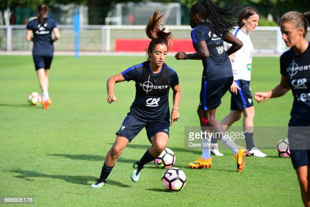 Sakina Karchaoui of France during the France women's training session at Centre National du Football on June 22 2017 in Clairefontaine France