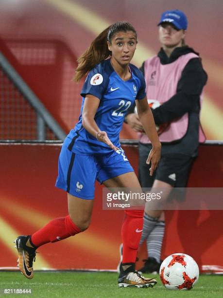 Sakina Karchaoui of France women during the UEFA WEURO 2017 Group C group stage match between France and Austria at the Galgenwaard Stadium on July...