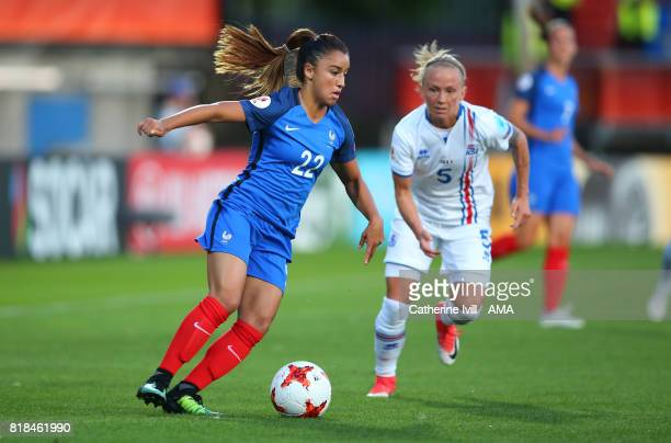 Sakina Karchaoui of France Women during the UEFA Women's Euro 2017 match between France and Iceland at Koning Willem II Stadium on July 18 2017 in...
