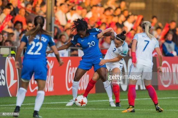 Sakina Karchaoui of France women Kadidiatou Diani of France women Lucia Bronze of England women Jordan Nobbs of England women during the UEFA WEURO...