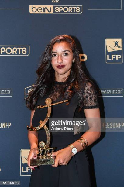 Sakina Karchaoui of Montpellier during the ceremony for the UNFP Trophy Awards on May 15 2017 in Paris France