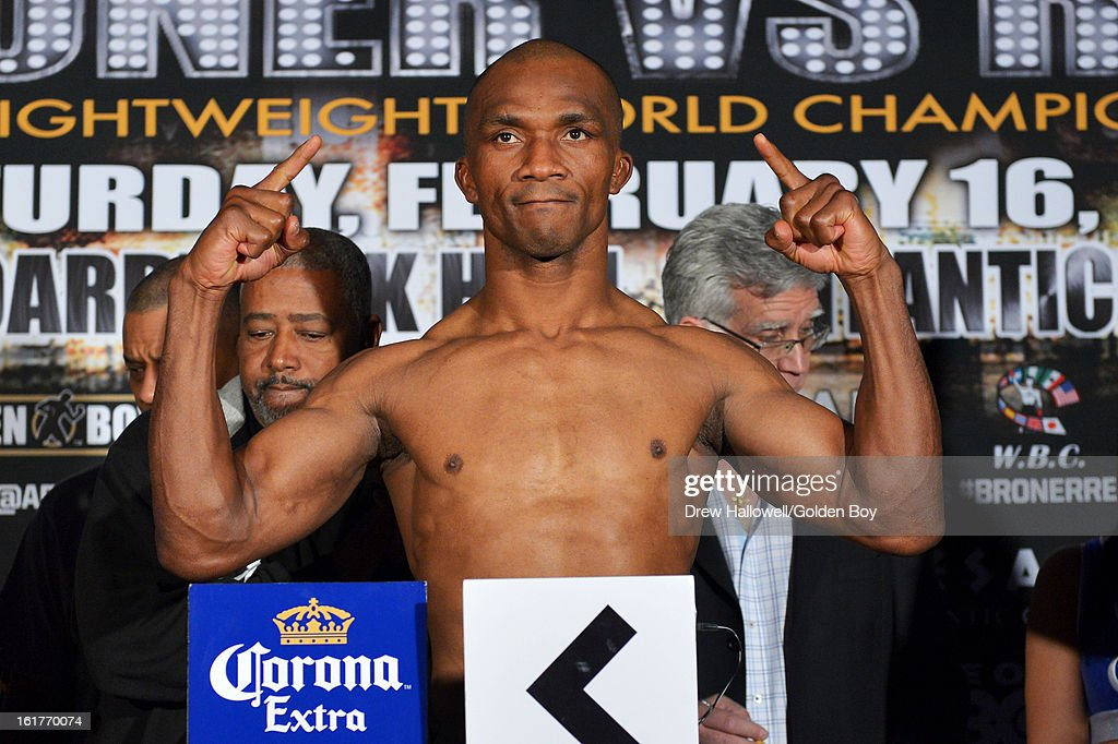Sakio Bika of Australia poses for a photograph during weigh-in before the WBC Lightweight World Championship at Caesars Atlantic City on February 15, 2013 in Atlantic City, New Jersey.