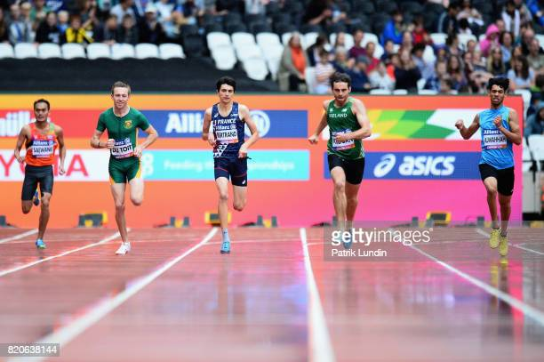 Sakphet Saewang of Thailand Charl Du Toit of South Africa Valentin Bertrand of France Paul Keogan of Ireland and Sajjad Alwahhah of Iraq compete in...