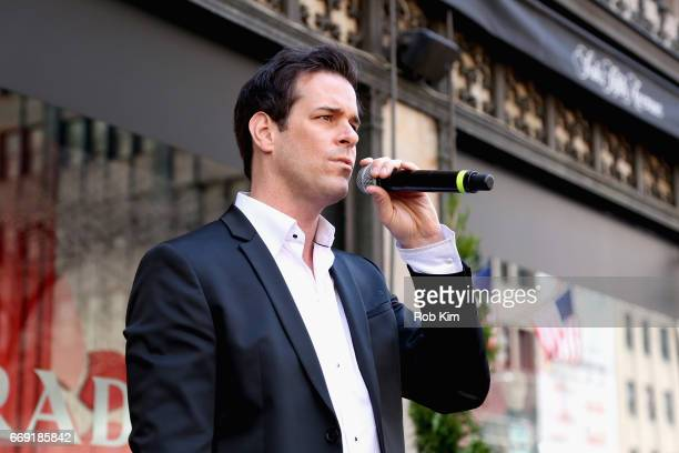 Saks Fifth Avenue and Broadway Cares/Equity Fights AIDS host Broadway performances during Easter Day Parade Actor Jeremy Stolle from The Phantom of...