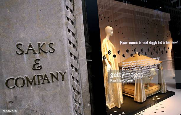 Saks Fifth Avenue is shown June 13 2004 in New York City