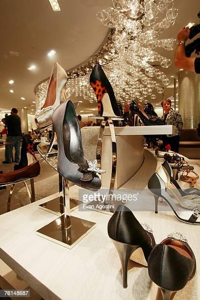 Saks Fifth Avenue opens a new designer shoe floor with it's own zip code '10022SHOE' August 17 2007 in New York City