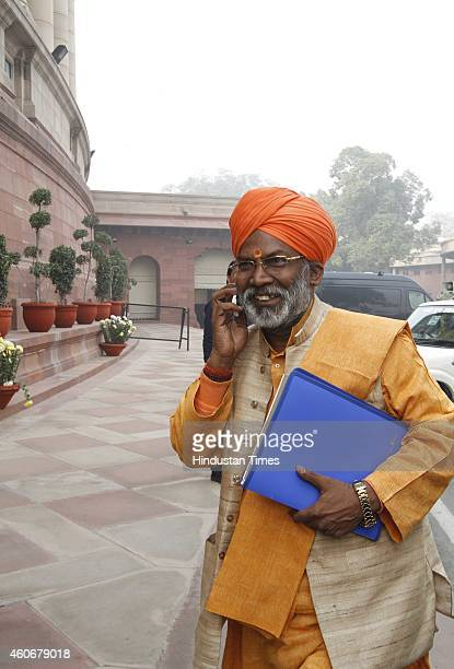 Sakshi Maharaj at Parliament House on December 19 2014 in New Delhi India Progress on key bills such as a nationwide sales tax scrutinised as...
