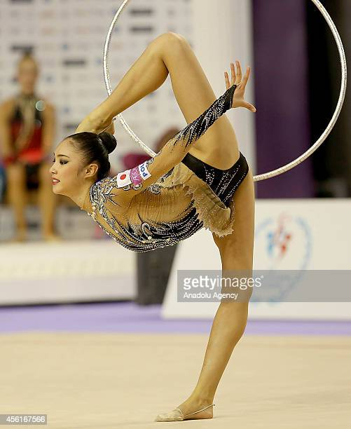 Sakura Hayakawa of Japon competes during the 33rd Rhythmic Gymnastics World Championships in Izmir Turkey on September 26 2014