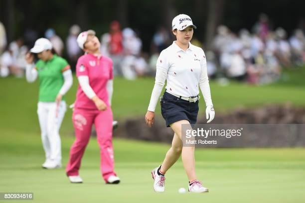 Sakura Koiwai of Japan during the final round of the NEC Karuizawa 72 Golf Tournament 2017 at the Karuizawa 72 Golf North Course on August 13 2017 in...