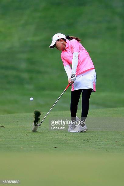 Sakura Yokomine of Japan hits to the 4th green during round one of the International Crown on July 24 2014 in Owings Mills Maryland