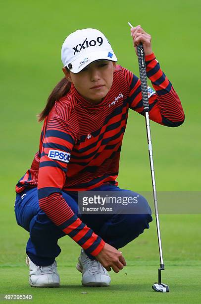 Sakura Yokomine of Japan looks on during the final round of Lorena Ochoa Invitational 2015 at the Club de Golf Mexico on November 15 2015 in Mexico...