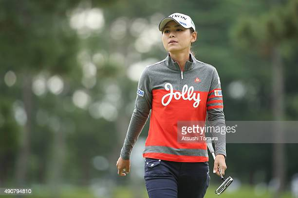 Sakura Yokomine of Japan looks on during the first round of Japan Women's Open 2015 at the Katayamazu Golf Culb on October 1 2015 in Kaga Japan