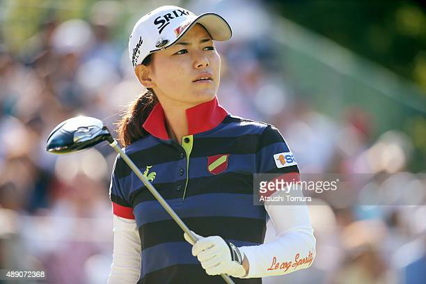 Sakura Yokomine of Japan looks on during the second round of the Munsingwear Ladies Tokai Classic at the Shin Minami Aichi Country Club Mihama Course...