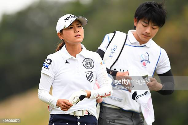 Sakura Yokomine of Japan looks on during the second round of the TOTO Japan Classics 2015 at the Kintetsu Kashikojima Country Club on November 7 2015...