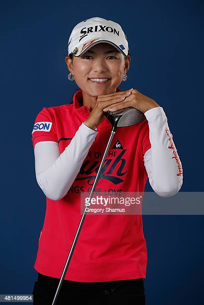 Sakura Yokomine of Japan poses for a portrait prior to the Meijer LPGA Classic presented by Kraft at Blythefield Country Club on July 21 2015 in...