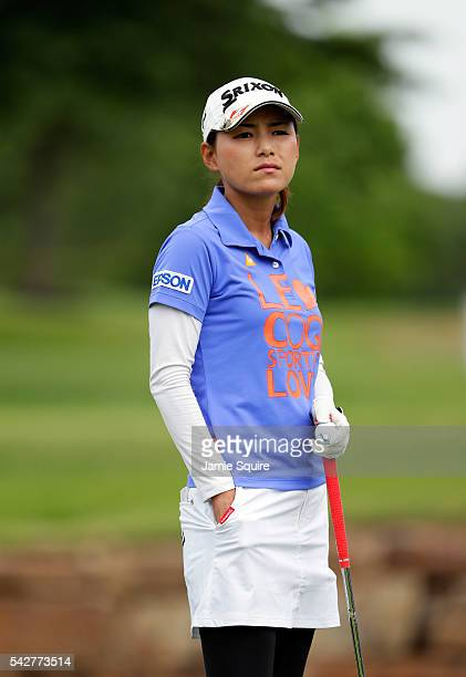 Sakura Yokomine of Japan prepares to hit her first shot on the 11th hole during the first round of the Walmart NW Arkansas Championship Presented by...