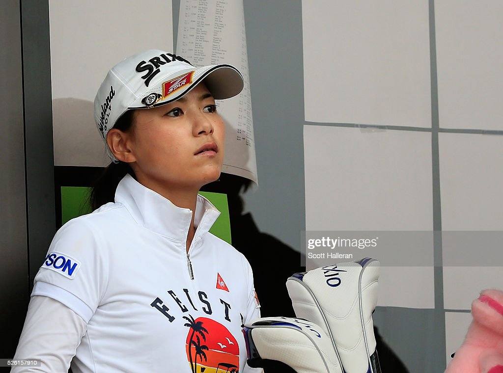 <a gi-track='captionPersonalityLinkClicked' href=/galleries/search?phrase=Sakura+Yokomine&family=editorial&specificpeople=868619 ng-click='$event.stopPropagation()'>Sakura Yokomine</a> of Japan waits near the clubhouse after play was suspended by dangerous weather during the second round of the Volunteers of America Texas Shootout at Las Colinas Country Club on April 29, 2016 in Irving, Texas.