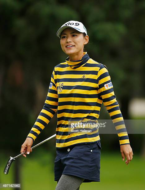 Sakura Yokomine of Japan walks across the fourth green during the third round of the Lorena Ochoa Invitational Presented By Banamex at the Club de...