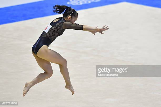 Sakura Yumoto competes on the Floor during the Artistic Gymnastics NHK Trophy at Yoyogi National Gymnasium on May 17 2015 in Tokyo Japan