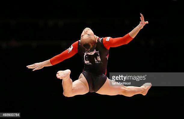 Sakura Yumoto of Japan competes on the Beam during Day One of the 2015 World Artistic Gymnastics Championships at The SSE Hydro on October 23 2015 in...