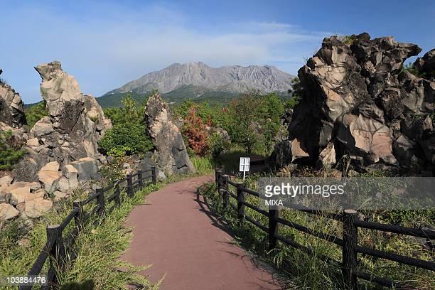 Sakurajima Lava Promenade, Kagoshima, Kagoshima, Japan