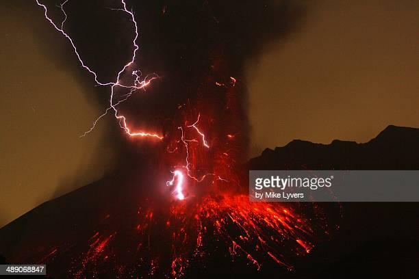 Sakurajima volcanic lightning