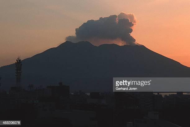 Sakurajima Volcano lets off some steam About 7 thousand people live at the foot of this volcano and Kagoshima city with a population of about half a...
