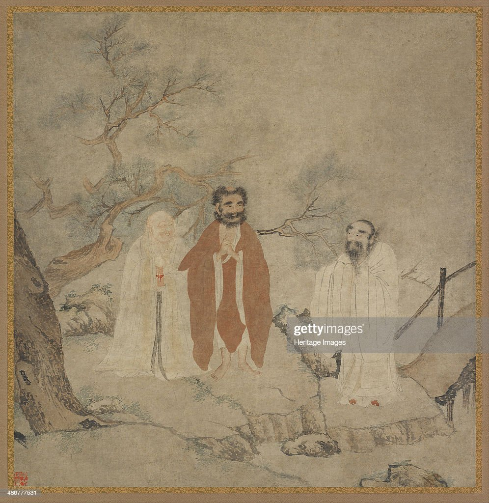 Sakyamuni Laozi and Confucius Between 1368 and 1644 Artist Chinese Master