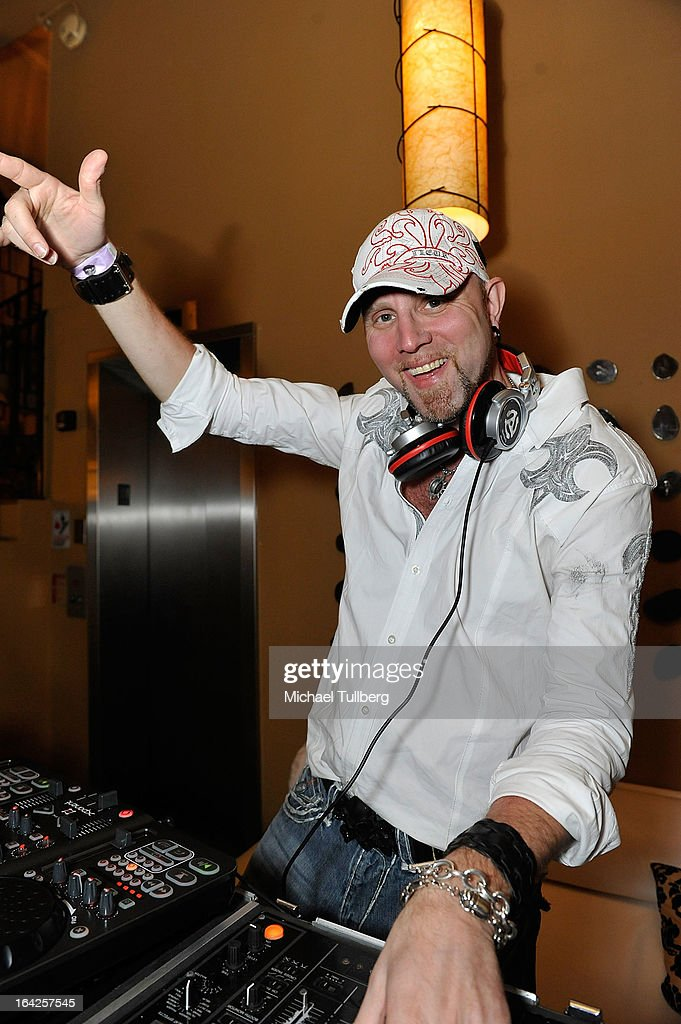 DJ Sal Amato spins during Winter Music Conference 2013 on March 21, 2013 in Miami Beach, Florida.