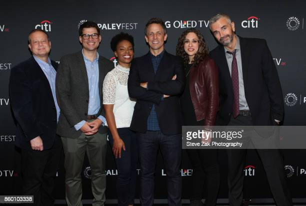 Sal Gentile Amber Ruffin Seth Meyers Jenny Hagel and Alex Baze attend PaleyFest NY 2017 'Late Night With Seth Meyers' at The Paley Center for Media...