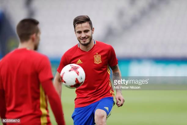 Saúl Ñíguez of Spain during the Spain U21 national team training at Krakow Stadium on June 29 2017 in Krakow Poland