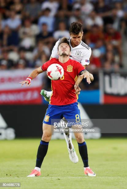Saúl Ñíguez of Spain during the UEFA U21 Final match between Germany and Spain at Krakow Stadium on June 30 2017 in Krakow Poland
