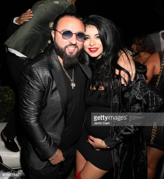 Sal Slaiby and Miss USA 2010 Rima Fakih Slaiby attend the CIROC French Vanilla Birthday Celebration for French Montana on November 9 2017 in Beverly...